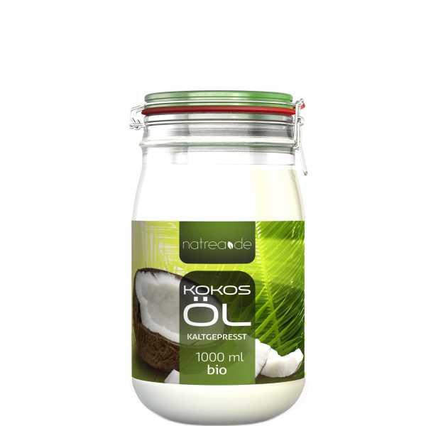 BIO-Kokosöl, kaltgepresst - 1 Liter