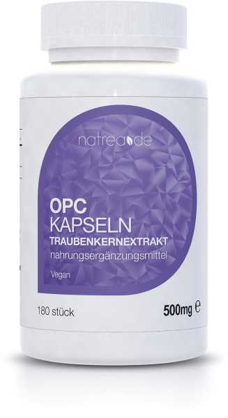 OPC Traubenkernextrakt-Kapseln, vegan, 180 Kapseln à 500mg