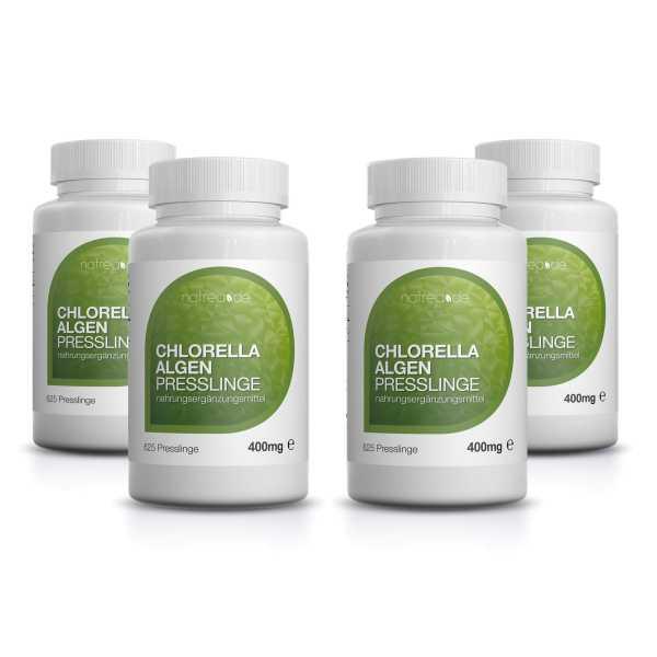 Chlorella Algen Presslinge, 2500 Stück ( 4 x 625 Stück a 400mg )