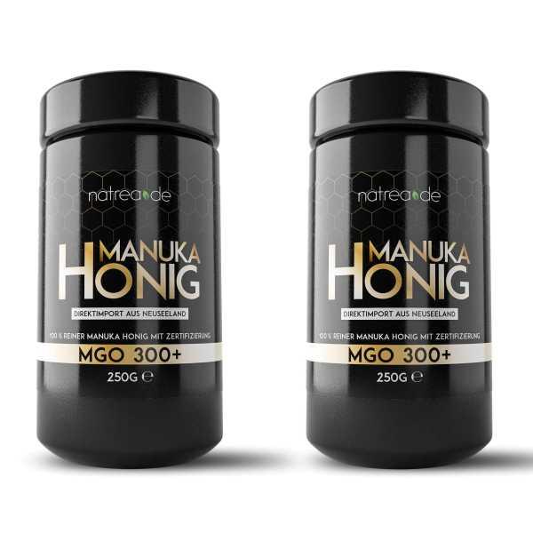 Manuka Honig, MGO 300 +, 2er Pack (2 x 250 g)