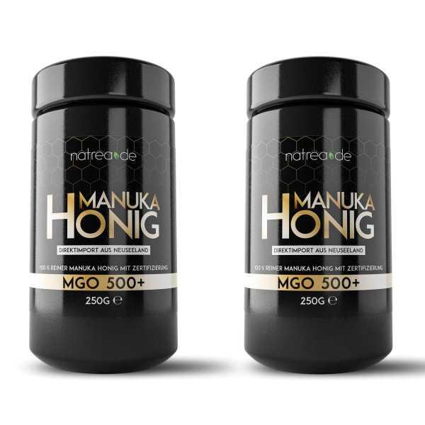 Manuka Honig, MGO 500+, 2er Pack (2 x 250 g)